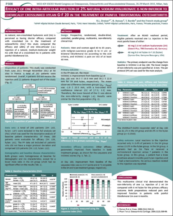 Efficacy of Ostenil Plus Dreiser ESCEO 2015 Poster